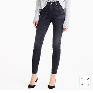 """J. Crew 9"""" high rise toothpick jean in charcoal"""